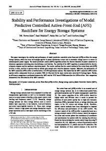 Stability and Performance Investigations of Model ... - umexpert