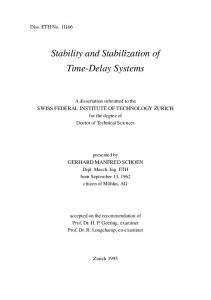 Stability and Stabilization of Time-Delay Systems - Semantic Scholar