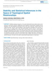 Stability and Statistical Inferences in the Space of ... - IEEE Xplore