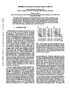 Stability and structure of atomic chains on Si (111)