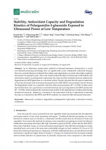 Stability, Antioxidant Capacity and Degradation ... - Semantic Scholar
