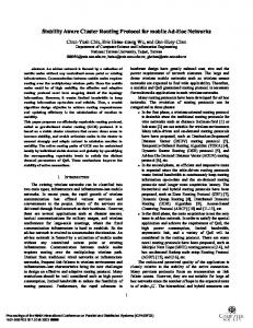 Stability aware cluster routing protocol for mobile ad-hoc networks ...