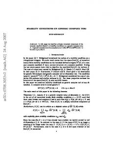 STABILITY CONDITIONS ON GENERIC COMPLEX TORI