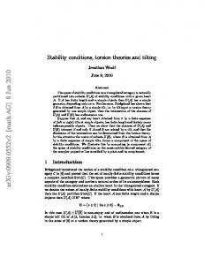 Stability conditions, torsion theories and tilting