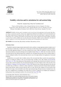 Stability criterion and its calculation for sail-assisted ship