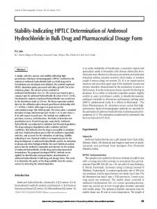 Stability-Indicating HPTLC Determination of Ambroxol Hydrochloride ...