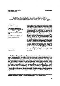 Stability of amlodipine besylate and atenolol in multi-component ...