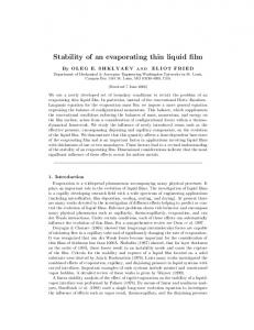 Stability of an evaporating thin liquid film