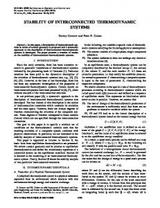 Stability of Interconnected Thermodynamic Systems