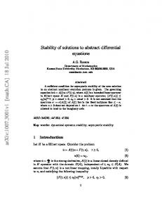 Stability of solutions to abstract differential equations