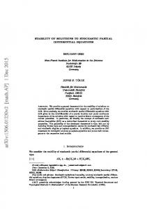 Stability of solutions to SPDE