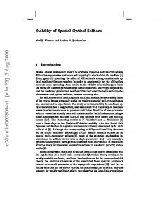 Stability of Spatial Optical Solitons