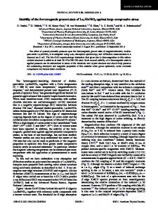 Stability of the ferromagnetic ground state of La2MnNiO6 ... - hpcat