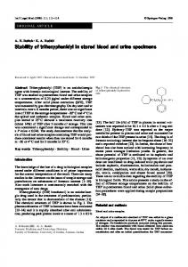Stability of trihexyphenidyl in stored blood and urine ... - Springer Link