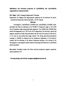 Stabilization and functional properties of La3NiAlMnO9 and