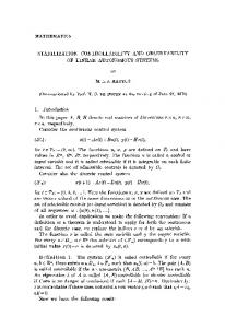 Stabilization controllability and observability of linear ... - Core