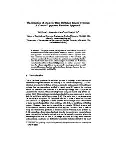 Stabilization of Discrete-Time Switched Linear Systems: A Control