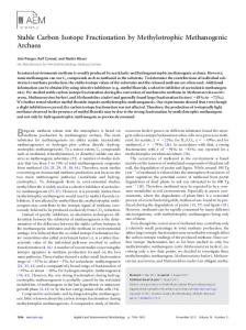 Stable Carbon Isotope Fractionation by Methylotrophic Methanogenic ...