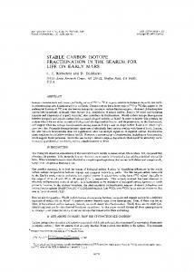 stable carbon isotope fractionation in the search for life ... - ScienceDirect