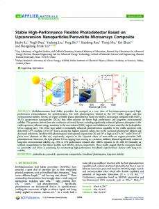 Stable High-Performance Flexible Photodetector ... - ACS Publications