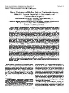 Stable Hydrogen and Carbon Isotope Fractionation during Microbial ...