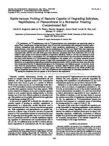 Stable-Isotope Probing of Bacteria Capable of Degrading ... - ENVIS