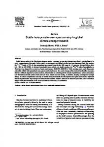 Stable isotope ratio mass spectrometry in global climate change ...