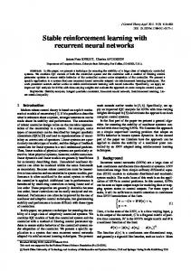 Stable reinforcement learning with recurrent neural networks ...