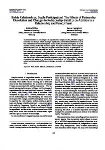 Stable Relationships, Stable Participation? The ... - Semantic Scholar