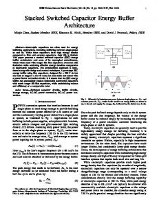 Stacked Switched Capacitor Energy Buffer ... - Semantic Scholar