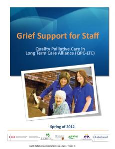 Staff Grief and Loss Innovation - Quality Palliative Care in Long ...