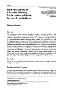 Staff Perceptions of Variables Affecting Performance ... - SAGE Journals