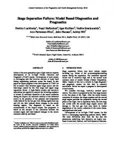 Stage Separation Failure: Model Based Diagnostics ... - PHM Society