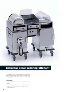 Stainless steel catering kitchen*