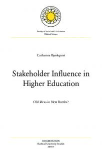 Stakeholder Influence in Higher Education - Karlstad University