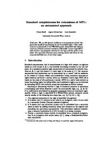 Standard completeness for extensions of MTL - Theory and Logic Group