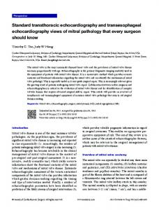Standard transthoracic echocardiography and transesophageal ...