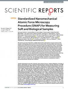 Standardized Nanomechanical Atomic Force Microscopy Procedure