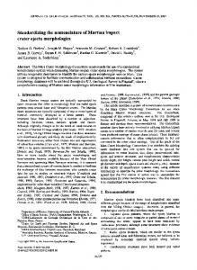 Standardizing the nomenclature of Martian impact crater ejecta ...