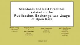 Standards and Best Practices Related to the Publication ... - ASIS&T