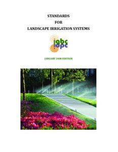 STANDARDS FOR LANDSCAPE IRRIGATION SYSTEMS.Pdf