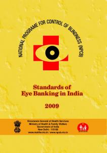 Standards of Eye Banking in India - National Programme for Control ...