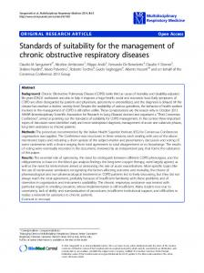 Standards of suitability for the management of chronic obstructive ...