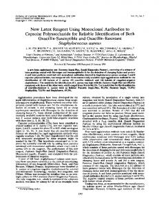 Staphylococcus aureus - Journal of Clinical Microbiology - American