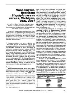 Staphylococcus - Centers for Disease Control and Prevention