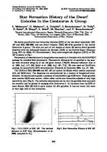 Star Formation History of the Dwarf Galaxies in the Centaurus A Group