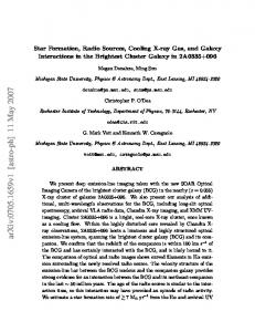 Star Formation, Radio Sources, Cooling X-ray Gas, and Galaxy ...
