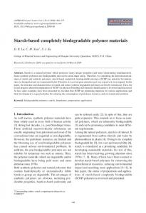 Starch-based completely biodegradable polymer materials