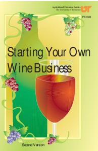 Starting Your Own Wine Business - UT Extension - The University of ...