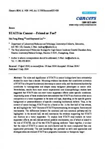 STAT3 in Cancer—Friend or Foe - BioMedSearch